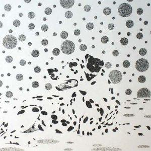Dalmatiër stippen pen op papier door Hanny de Beer