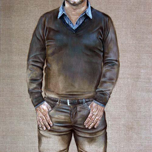 Guus Meeuwis geschilder door Hanny de Beer