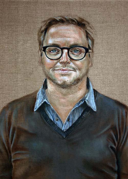 Guus Meeuwis Portret door Hanny de Beer