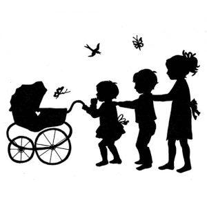 Illustratie geboorte door Hanny de Beer
