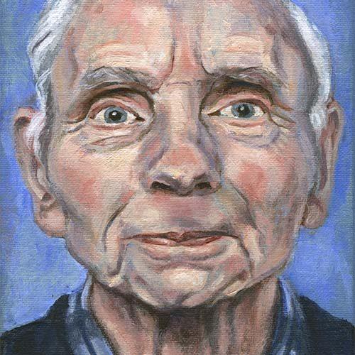 Portret 'Opa' door Hanny de Beer