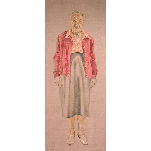 Portret 'Oude Dame' door Hanny de Beer