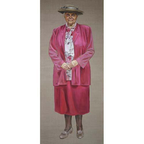Oude dame 2 door Hanny de Beer