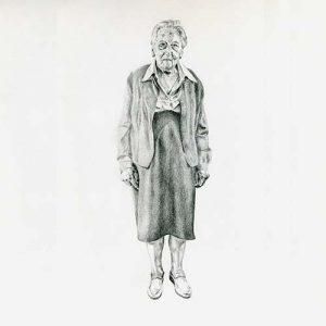 Tekening Oude Dame 5 door Hanny de Beer