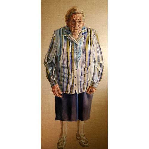 Oude dame 'Beppe' door Hanny de Beer