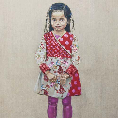 Portret 'Renee' door Hanny de Beer