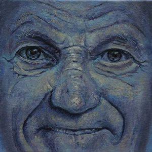 Portret 'Heit' door Hanny de Beer