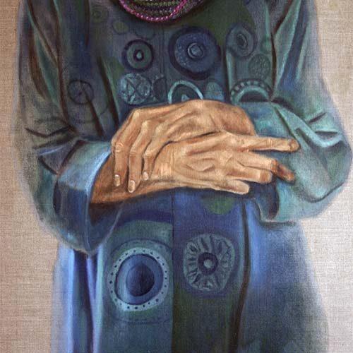 Oude dame 4 door Hanny de Beer