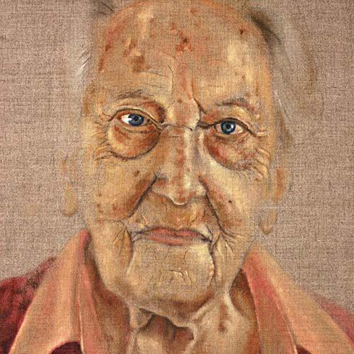 Oude Dame door beeldend kunstenaar Hanny de Beer